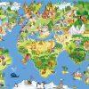 Tapeta bajkowa mapa świata
