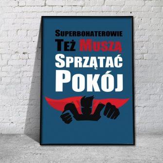 plakat o superbohaterze