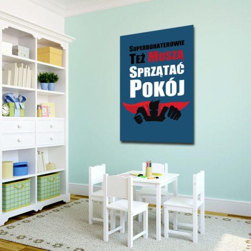plakat do pokoju dziecka z superbohaterem