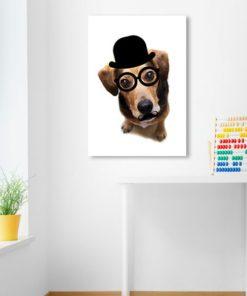 Plakat na ścianę do pokoju dziecka z pieskiem