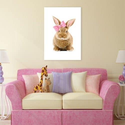Plakat z króliczkiem do pokoju dziecięcego