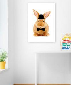 Plakat na ścianę z króliczkiem