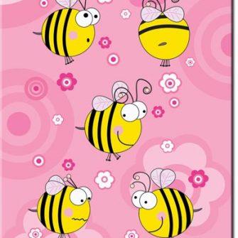 Plakat wesołe pszczółki