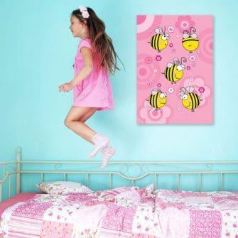 Plakat z pszczółkami na ściany