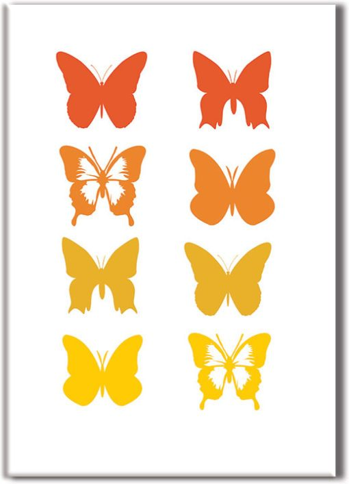 Plakat z motylkami