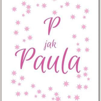 Plakat z imieniem P jak Paula