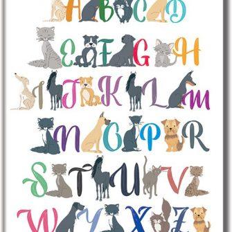 Plakat dla dzieci z alfabetem