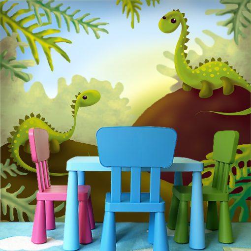 Tapeta dwa dinozaury