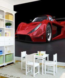 Tapeta czerwone auto
