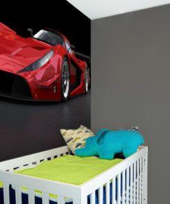 Dekoracja dla chłopca z czerwonym autem