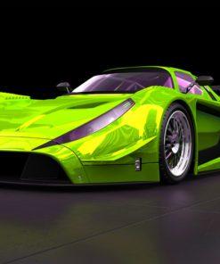 Fototapeta zielona wyścigówka