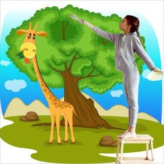 Dekoracja dla dzieci z wesołą żyrafą