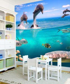 Dekoracja dla dzieci z delfinami