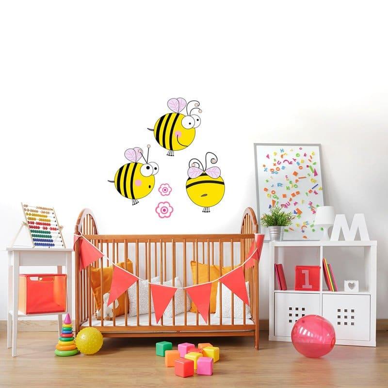 2e840e9c Naklejki do pokoju niemowlaka - wzory o delikatnym, urzekającym ...