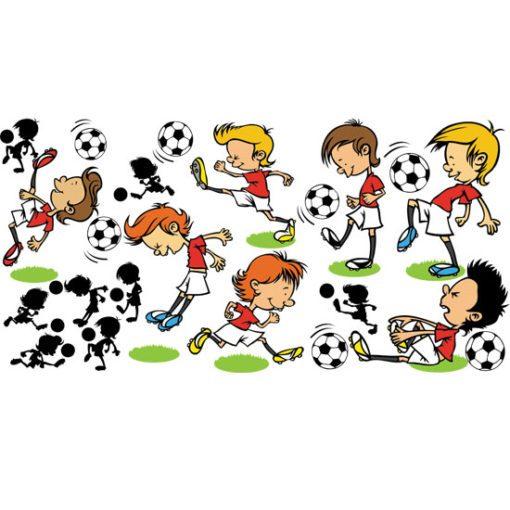 Dekoracja na ścianę z piłkarzami