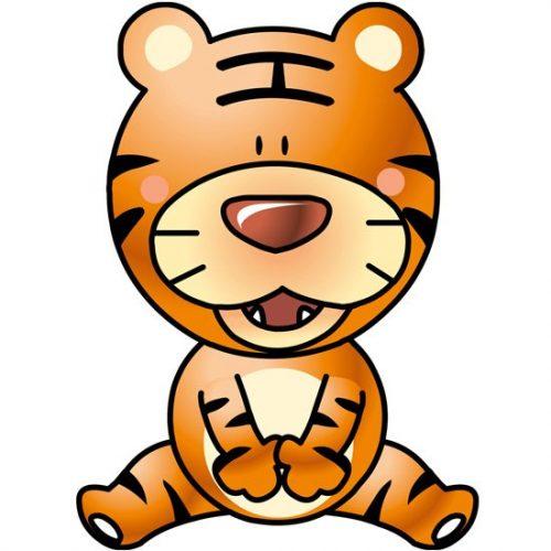 naklejka z tygryskiem