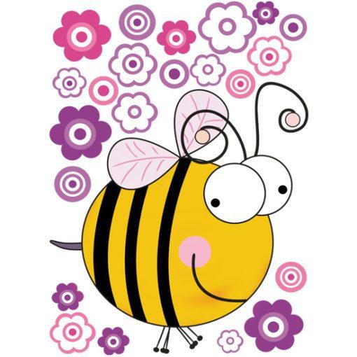 Naklejka z pszczółką