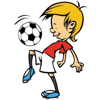 Naklejki z piłkarzem