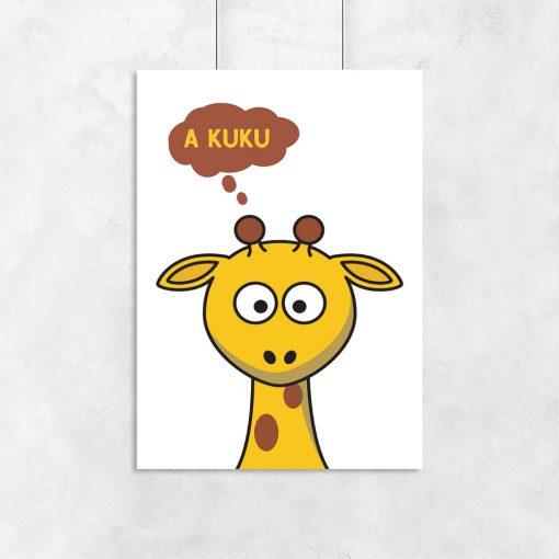 plakat z żyrafą do pokoju dziecka
