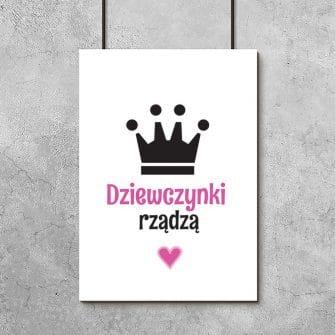 plakat z koroną do pokoju córki
