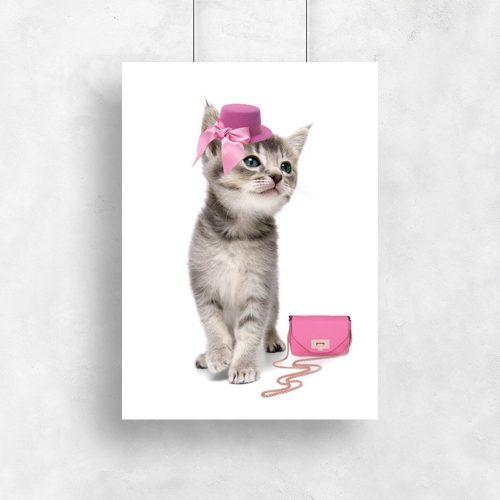 plakat z kotkiem w kapeluszu
