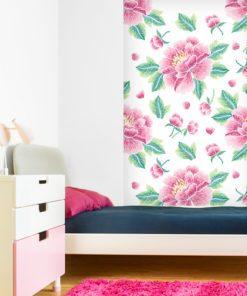 Dekoracja na ścianę do pokoju dziecka kwiaty
