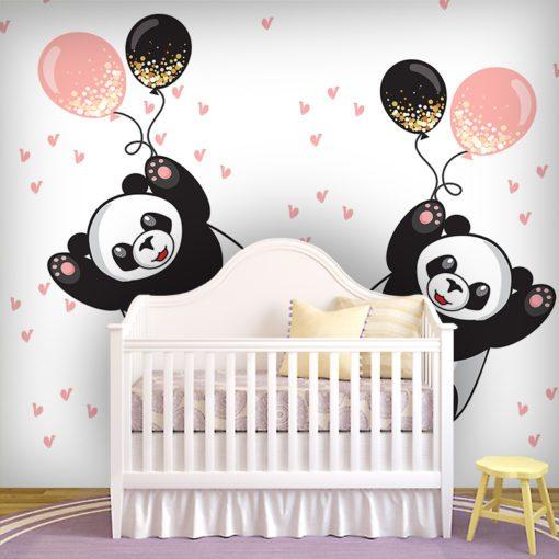 Dekoracja dla dzieci z pandami