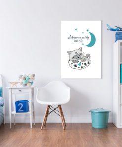 Dekoracja z kotkiem i gwiazdami