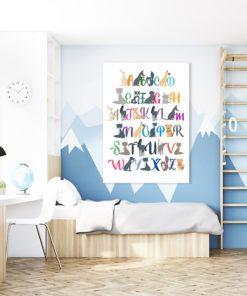 Plakat kolorowe literki
