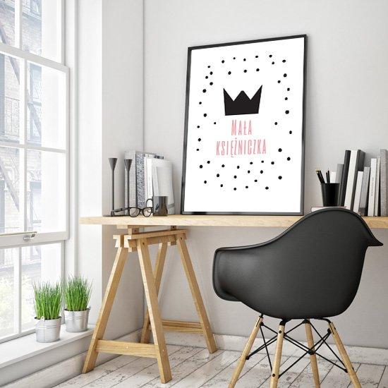 Plakat w ramie dla małej księżniczki