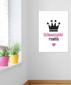 Plakat dla dziewczynki z napisem