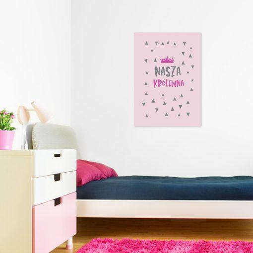 Plakat z napisem dla królewny