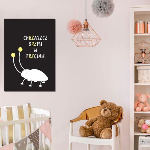 Plakat z napisem do pokoju dziecka