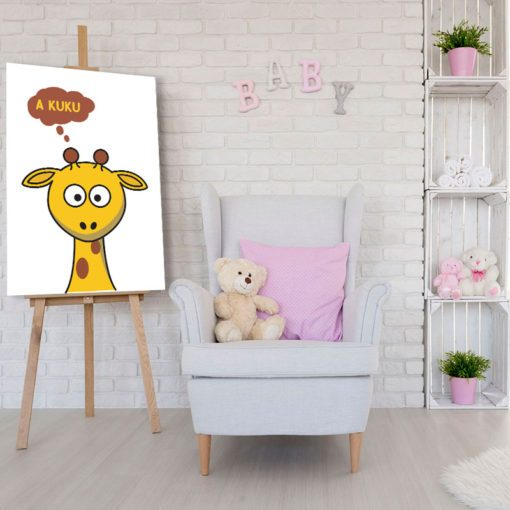 Plakat z żyrafą