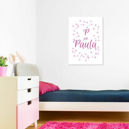 Plakat z napisem i grafiką