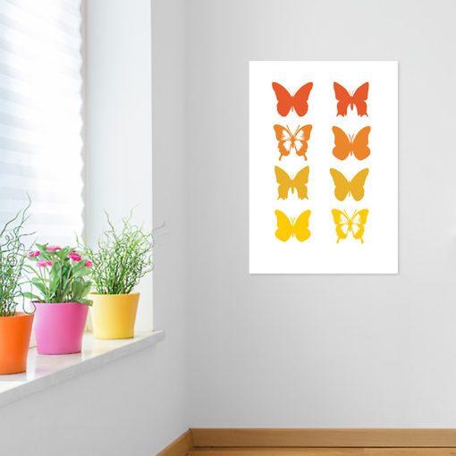 Plakat motylki dla dziewczynki