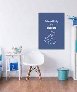 Plakat z napisem i zwierzątkami