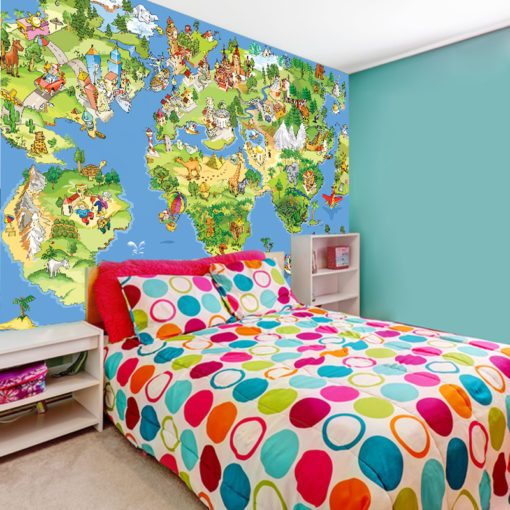 Fototapeta z mapą dla dzieci