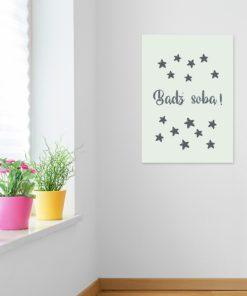 Plakat z napisem i gwiazdami