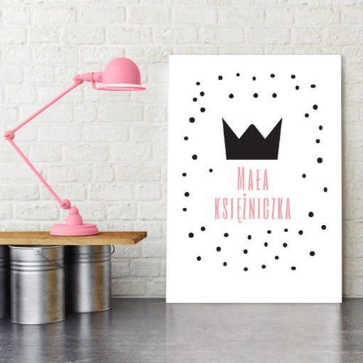 Plakat z napisem dla księżniczki