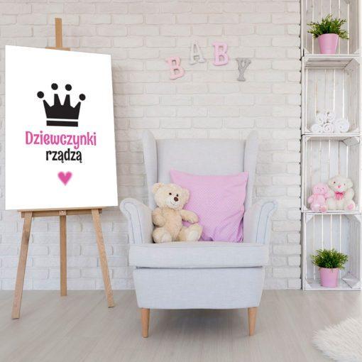 Plakat z napisem dla dziewczynki