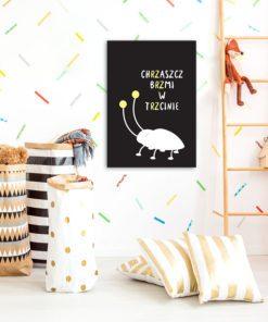 Plakat dla dzieci z chrząszczem