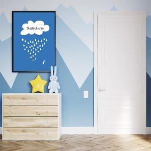 Plakat z chmurką i napisem