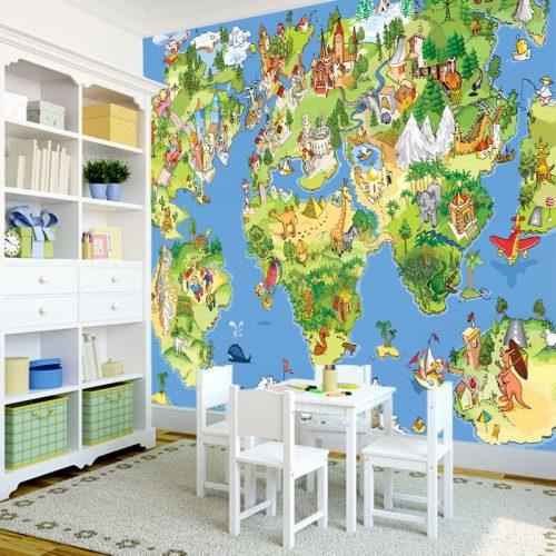 Dekoracja z mapą świata