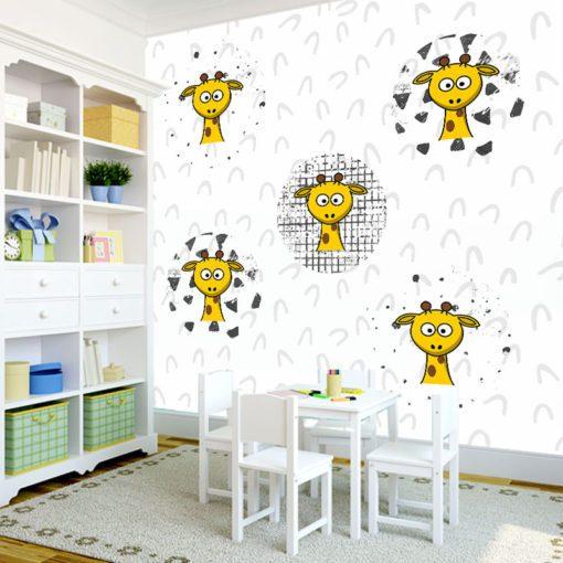 Plakaty do dekoracji z żyrafami