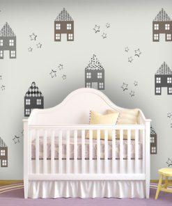 Dekoracja dla dzieci domki i gwiazdki