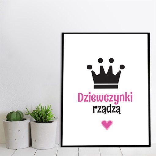 Plakat z napisem dla małej księżniczki