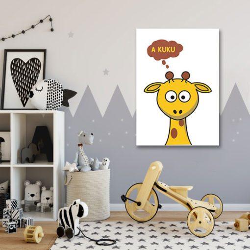 Dekoracja z żyrafą