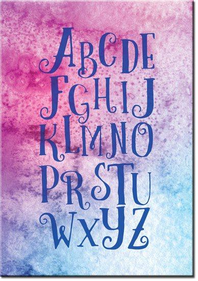 Plakat litery alfabetu