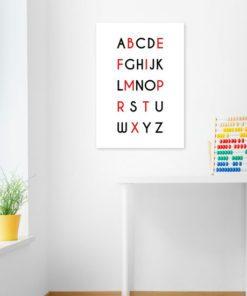 Plakat z literami